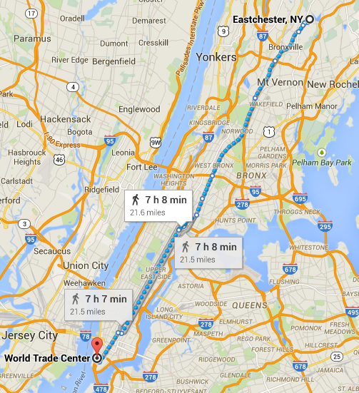 World Trade Center to Eastchester